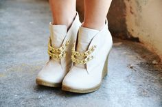 Swap out your laces for a pair of chains to give your shoes a glam update.