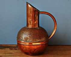 English Victorian copper jug by Henry Loveridge by nancyplage, £30.00