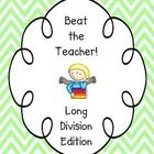 Beat the Teacher - Long Division - fun way for students to practice this tough skill! Teaching Reading, Teaching Tools, Teaching Math, Teaching Resources, Teaching Ideas, Maths, Teacher Games, Teacher Pay Teachers, 4th Grade Classroom