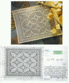 closet for crocheted napkin: مفارش كروشية مربعة جديدة مع البترونات.square dioly