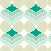teal and grey droplet fabric