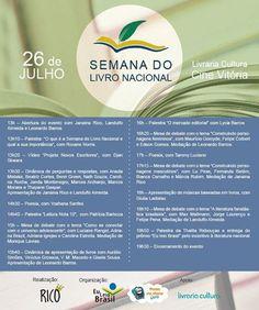 Programação da Semana do Livro Nacional do Rio de Janeiro