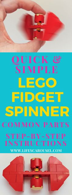 DIY Lego Fidget Spinner   Super simple Lego Fidget Spinner that you can make with common parts. Simple to follow step by step instructions (with photos!). Your kids will love this!