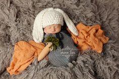 Gray Newborn Knit Swaddle Sack | Beautiful Photo Props