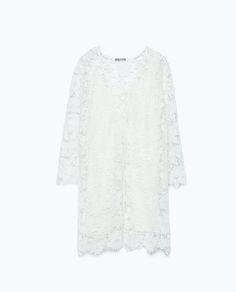 ZARA - DAMEN - Kleid aus Guipure-Spitze mit Schnürausschnitt