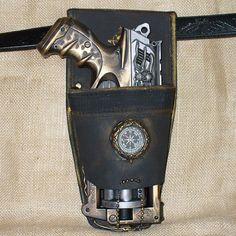Steampunk gothic MAVERICK Gun HOLSTER BELT
