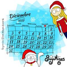 Que cada uno de los días de Diciembre sea muy especial para ti! Tendremos una linda sorpresa navideña, suscríbete a blog.guyuminos.com para que no te la pierdas ;) #calendario #mes #navidad #ilustración #tarjetas #postalesvirtuales #cute #kawaii #navideño #navidad #tierno #gato #catlovers #xmas #sorpresa