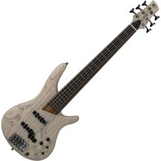 *like fretted/fretless, extra pickup, natural finish Ibanez Ashula 6 string bass. Hybrid Fretted/Fretless neck.
