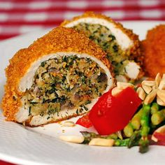 Traditional Savoury Stuffed Chicken Breasts - Rock Recipes -The Best Food & Photos from my St. Baked Lemon Pepper Chicken, Baked Chicken, Sunday Roast Dinner, Cooking Recipes, Healthy Recipes, Cooking Food, Healthy Food, Yummy Food, Savoury Recipes