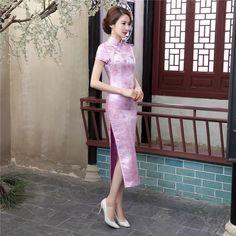 Long length Brocade Fabric Cheongsam Qipao Chinese dress C0037-C-01