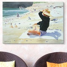 10 Serene Pieces of Coastal Art For Beach Lovers featuring art from @Imagekind and @GreatBIGCanvas via @surroundmag.