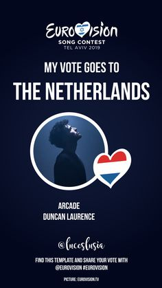 Eurovision 2019 Instagram template by @luceslusia - My vote goes to The Netherlands I Voted, Videos, Netherlands, Templates, Songs, Photo And Video, Instagram, The Nederlands, The Netherlands
