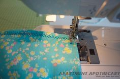 Liberty print baby blanket tutorial sewing pattern