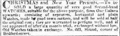 An advertisement for Christmas gifts from The Morning Post (London) of January  6 1810