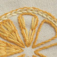 「 レモンとオレンジの簡単刺繍 」の画像|【かんたん刺繍教室】たった6つのステッチだけでらくらく刺繍上達ブログ|Ameba (アメーバ)