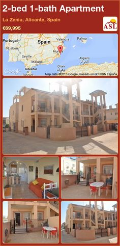 Apartment for Sale in La Zenia, Alicante, Spain with 2 bedrooms, 1 bathroom - A Spanish Life Apartments For Sale, Valencia, Automatic Blinds, Portugal, American Kitchen, Alicante Spain, Spanish House, Private Garden, Palmas