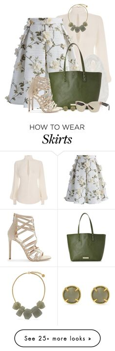 Chicwish Lets Blossom Skirt by brendariley-1 on Polyvore featuring Alexander McQueen, Caslon, Chicwish, Olivia   Joy, Tamara Mellon, Vince Camuto, Miu Miu, skirt, blossom and chickwish