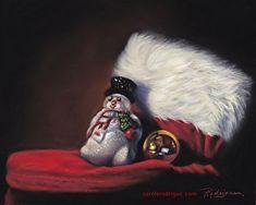 Lil' Snow Man by Carole Rodrigue Pastel painting ~ 8 x 10 Christmas themed art Cute Christmas Cards, Snowman Christmas Ornaments, Christmas Greeting Cards, Christmas Art, Christmas Greetings, Christmas Themes, Christmas Chair, Shih Tzu Dog, Dog Wear