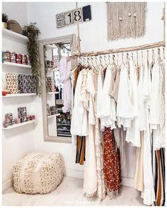 La collection est disponible au concept Store ✨ The c Boutique Interior, Room Closet, Aesthetic Bedroom, Room Organization, Store Design, Bedroom Decor, Home Decor, Amazing Ideas, Hanging Clothes Racks
