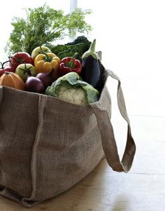 linen tote...another good for the enviroment project
