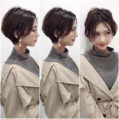 Short Pixie Cuts for 2019 – Everything You Should Know About a Pixie Cut Sho. Short Pixie Cuts for Long Hair With Bangs, Braids For Short Hair, Haircuts For Long Hair, New Haircuts, Little Girl Hairstyles, Asian Short Hair, Girl Short Hair, Medium Hair Cuts, Short Hair Cuts