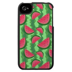 Watermelon Slices Pattern iPhone 4 Case