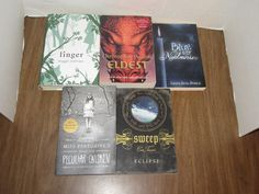 Teen Young Adult 5 Book Mixed Lot Eldest Linger Eclipse Blue is for Nightmares