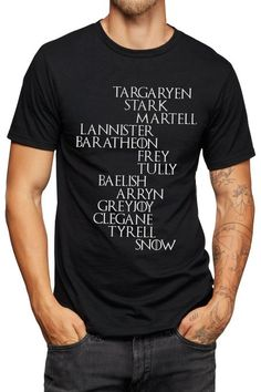 Noble Houses T-Shirt - Jon Snow - Game of Thrones - Vinyl Printed T-shirt: Amazon.de: Bekleidung