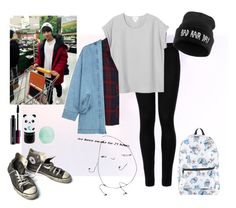 """""""gettin' groceries w/ jungkook"""" by nichole-lynn-evv on Polyvore featuring Wolford, Monki, Rails, Converse, Steve J & Yoni P, Disney, Eos, Tony Moly, MAC Cosmetics and outfit"""