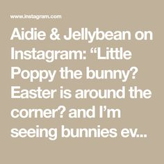 "Aidie & Jellybean on Instagram: ""Little Poppy the bunny🐰 Easter is around the corner🌷 and I'm seeing bunnies everywhere💕Pattern by @aidieandjellybean : Poppy the Bunny…"" Around The Corner, Toy Sale, Jelly Beans, Easter Bunny, Poppy, Bunnies, I Shop, Pattern, Instagram"
