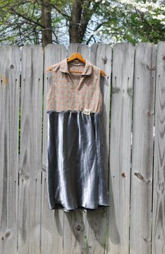 Upcycled Boho Tunic Dress/ Rustic Empire by RebirthRecycling, $55.00