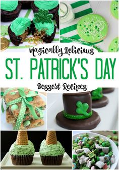 I've gathered together a collection of delicious St. Patrick's day desserts, some from my site and others from my favorite food bloggers