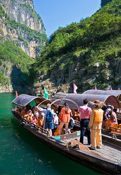 The three canyons that make up China's Little Three Gorges, on the sparkling green Daning River in Wushan Province, are easily accessible by boat, which traverse the gorges' sometimes-narrow passageways with ease. Longmen Gorge, the shortest of the three, contains the remains of an old plank road created to cross the river, gorgeous 12-mile Dicui Gorge is home to emerald-hued bamboo groves and an abundance of native birds, and the 6-mile Bawu Gorge boasts fanciful rock formations.