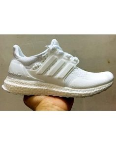 d296ea9d3867f Unisex Adidas Ultra Boost Triple White 2 on We Heart It