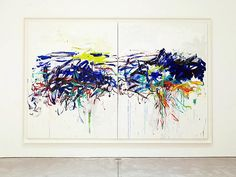 Joan Mitchell (Untitled, 1992) at Cheim & Read. So pleasing, always. (And yay @Megan Gendell, always good gallerying company!)