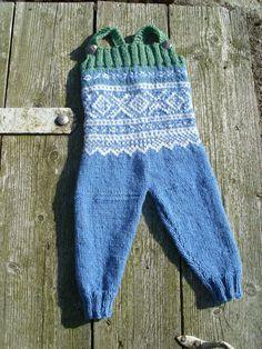 Selebukse i norsk strikk