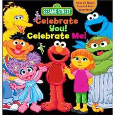"Children's Sensory Board Book: Sesame Street ""celebrate You! Celebrate Me!"" By Leslie Kinnelmen Multi Interactive Board, Interactive Stories, Sesame Street Books, Sesame Street Characters, Touch And Feel Book, Sensory Boards, Baby Invitations, Invites, Any Book"