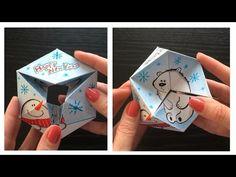 2 in 1 Paper toy & hand drawn Greeting card - YouTube