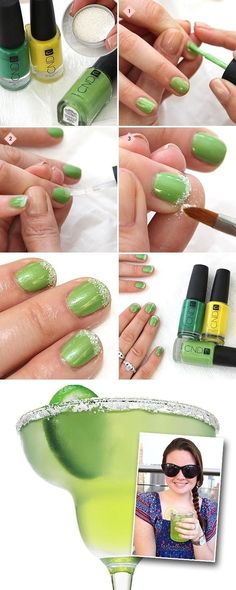 Get ready for the weekend with a margarita manicure :)