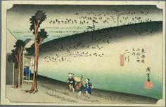 Hiroshige - The Fifty-three Stations of the Tokaido, 33rd station Futagawa