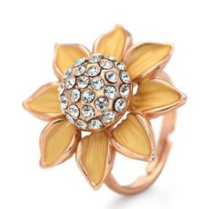 Neoglory Jewelry Yellow Sunflower Ring Have Swarovski Elements Crystal Neoglory Jewelry. $5.55. Neoglory Jewelry. 100% authentic jewelry. Brand new and high quality.. The best choice for gift or decoration.