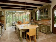 Rustic Italian Home Tuscan Style Homes, Tuscan House, Rustic Italian Decor, Italian Home, Tuscan Design, Mediterranean Home Decor, Tuscan Decorating, Beautiful Kitchens, Dream Kitchens