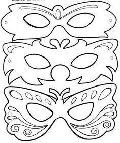 Antifaces. Manualidades. Dibujos para colorear ~ Rayito de Colores