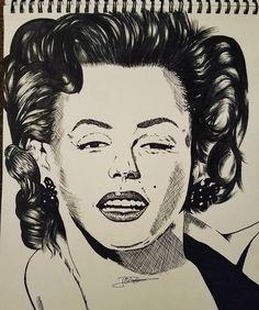 Here is a #ink #portrait of #marilynmonroe  #inkdrawing #portrait #drawingoftheday #art�� #design #illustration #portraits #artdesign #celebrity #realisticart #mangaka #sk#sketch #sketchbook #merilyn #monroe #star #hollywood #music #moviestarplanet #animestyle #mangastyle #comicartist #youngartist #selfie #inkmaster #inking #drawing http://tipsrazzi.com/ipost/1508154284784796894/?code=BTuClTbFMTe
