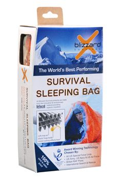 Blizzard Survival Sleeping Bag made of Reflexcell