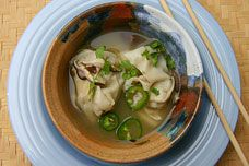 Shrimp and Scallion Wonton Soup