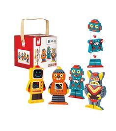 Magnéticos divertidos robots Janod Niños KC Venca