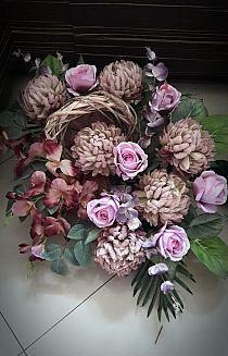 Fall Flowers, Fresh Flowers, Funeral Flowers, Twine, Floral Arrangements, Floral Wreath, Bouquet, Wreaths, Anna