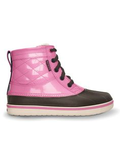 Another great find on #zulily! Espresso & Pink Lemonade AllCast Leather Duck Boot - Kids #zulilyfinds