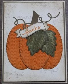 Cable Knit Pumpkin, Cable Knit embossing folder, Vintage Leaves stamp set, Endless wishes stamp set